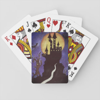 Cartes À Jouer Halloween Illustartion manie la batte les cartes