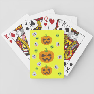 Cartes À Jouer Halloween jaune Emoji