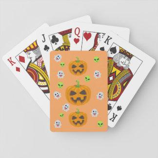 Cartes À Jouer Halloween noir Emoji