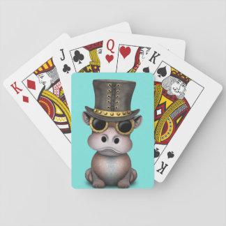 Cartes À Jouer Hippopotame de bébé de Steampunk