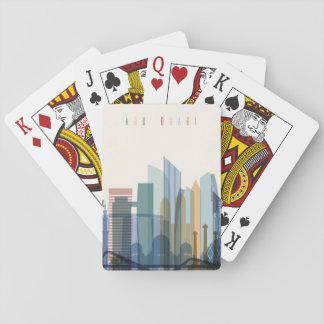 Cartes À Jouer Horizon de ville d'Abu Dhabi, Emirats Arabes Unis