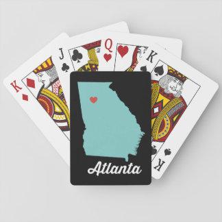 Cartes À Jouer I coeur Atlanta. Cartes de jeu de la Géorgie -