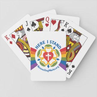 """Cartes À Jouer """"Ici je tiens"""" des cartes de jeu"""