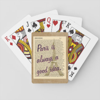 Cartes À Jouer Idée toujours bonne de Paris -- Cartes de jeu