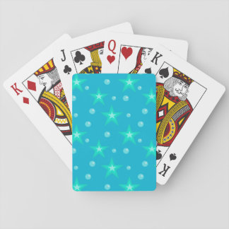 Cartes À Jouer Imaginaire bleu de sirène de bulles étoilées