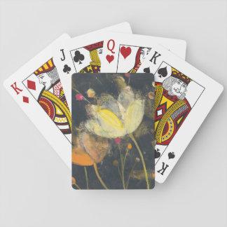 Cartes À Jouer Jardin de clair de lune sur le noir
