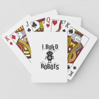 Cartes À Jouer Je construis le cadeau drôle d'ingénieur de