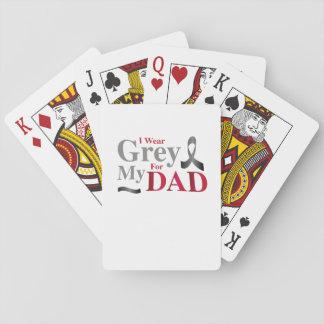Cartes À Jouer Je porte le gris pour mon cadeau de conscience de