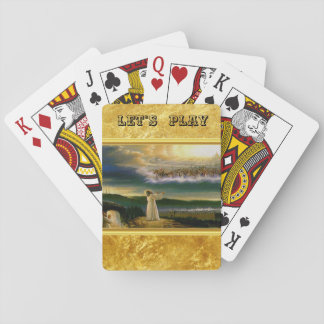 Cartes À Jouer Jésus à la conception de texture d'or de la porte