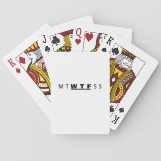 Cartes À Jouer Jours de MTWTFSS WTF du cool drôle de semaine