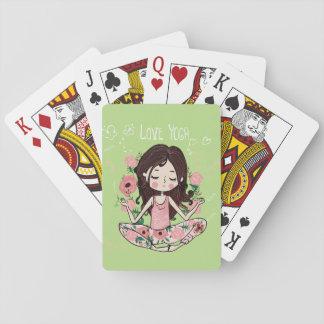 Cartes À Jouer La fille rose de roses aime le yoga