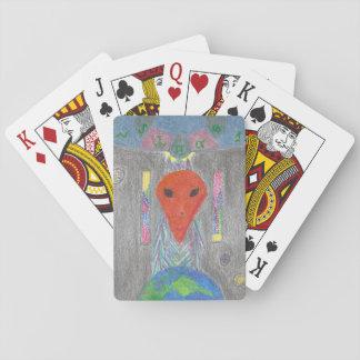 Cartes À Jouer La terre d'UFO d'interaction et les cartes de jeu