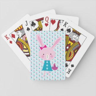 Cartes À Jouer Lapin rose