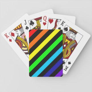 Cartes À Jouer L'arc-en-ciel barre les cartes de jeu classiques