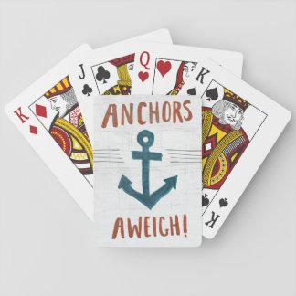 Cartes À Jouer L'art côtier | ancre loin