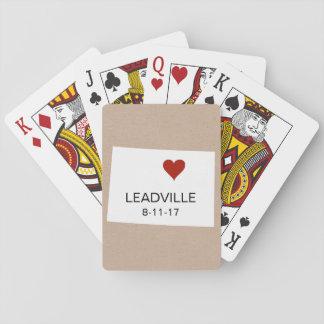 Cartes À Jouer Le Colorado a personnalisé des cartes de jeu de