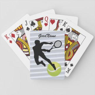 Cartes À Jouer Le tennis d'enthousiaste de sports, personnalisent