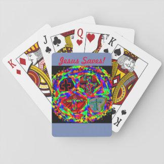 Cartes À Jouer L'église curative Jésus d'espoir sauve des cartes