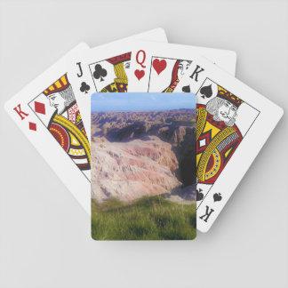 Cartes À Jouer les bad-lands donnent sur la plate-forme des