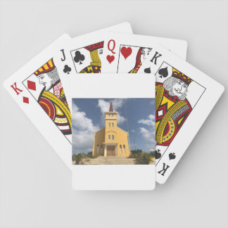 Cartes À Jouer Les cartes «église jaune».