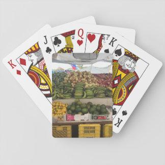 Cartes À Jouer Les cartes «marché de fruit tropical».