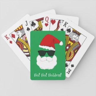 Cartes À Jouer Les lunettes de soleil de Père Noël personnalisent