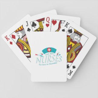 Cartes À Jouer Les meilleures infirmières sont en décembre cadeau