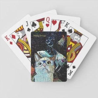 Cartes À Jouer Les sushi de poissons de chat câlinent les cartes