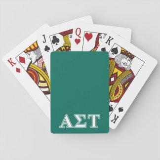 Cartes À Jouer Lettres blanches et vertes d'alpha Tau de sigma