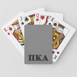 Cartes À Jouer Lettres noires de Kappa de pi alpha