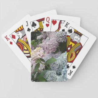 Cartes À Jouer L'hortensia fleurit les cartes de jeu classiques