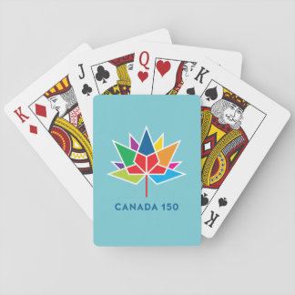 Cartes À Jouer Logo de fonctionnaire du Canada 150 - multicolore