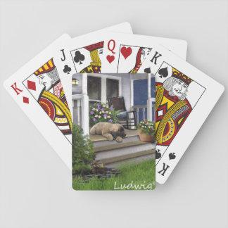 Cartes À Jouer Ludwig la carte de jeu de chiot de Leonberger