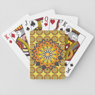 Cartes À Jouer Mandala-Jaune