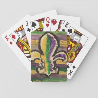 Cartes À Jouer Mardi gras Fleur-De-Lis de cartes de jeu