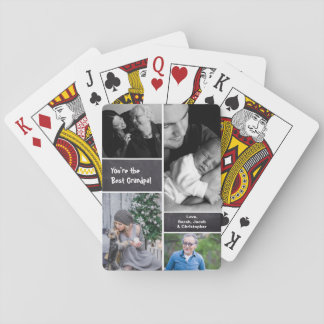 Cartes À Jouer Marqué à la craie, collage de collage de photo,