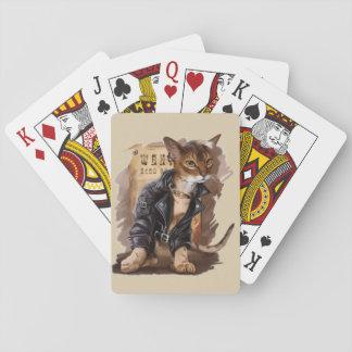 Cartes À Jouer mauvais minou jouant la plate-forme des cartes