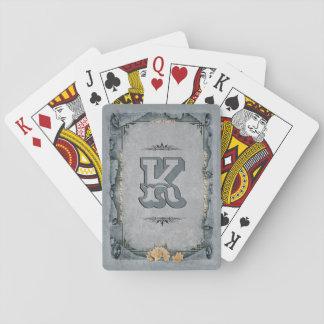 Cartes À Jouer Monogramme décoratif