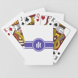Cartes À Jouer Monogramme personnalisé personnalisable rayé
