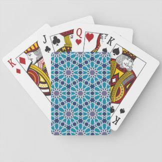 Cartes À Jouer Motif abstrait dans bleu et gris