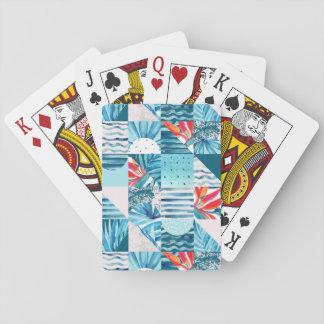 Cartes À Jouer Motif abstrait géométrique turquoise tropical