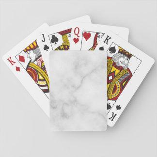 Cartes À Jouer Motif de marbre blanc élégant chic