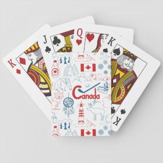 Cartes À Jouer Motif de symboles du Canada |