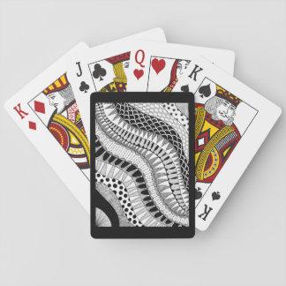 Cartes À Jouer Motif organique noir et blanc de griffonnage de