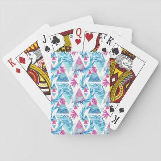 Cartes À Jouer Motif tropical de feuille d'aquarelle abstraite