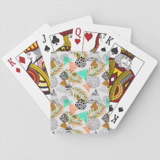 Cartes À Jouer Motif tropical géométrique abstrait de feuille