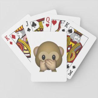 Cartes À Jouer Ne parlez aucun singe mauvais - Emoji
