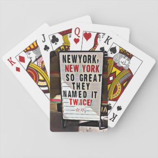 Cartes À Jouer New York, cartes de jeu de signe de NY New York