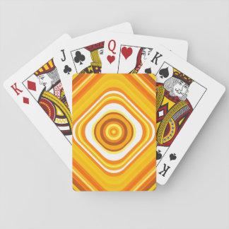 Cartes À Jouer Orange, blanc et motif Coucher du soleil-Inspiré