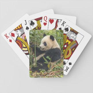 Cartes À Jouer Panda mangeant le bambou